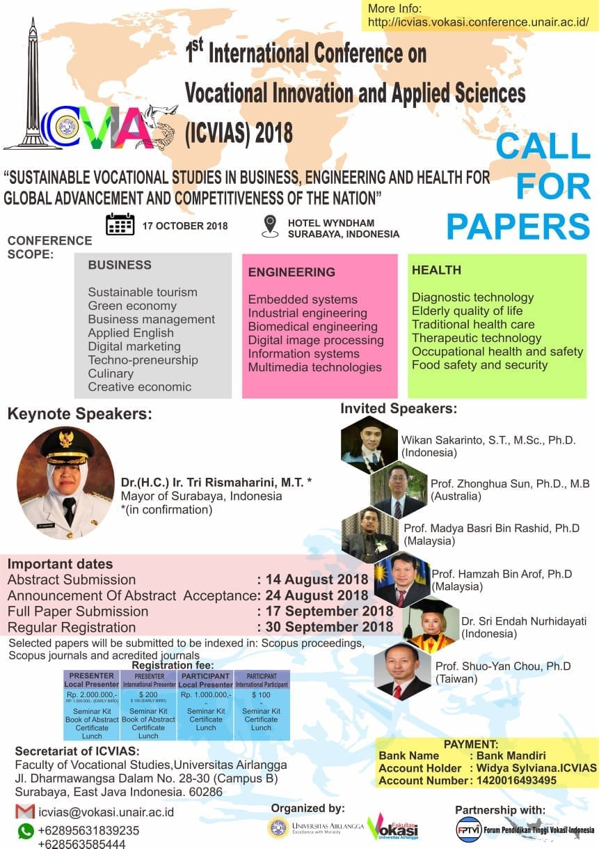 1st International Conference on Vocational Innovation and